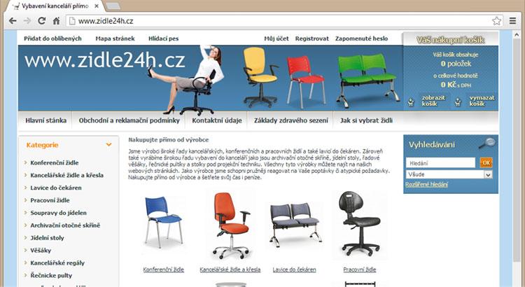 Kancelářské židle - eshop - www.zidle24h.cz